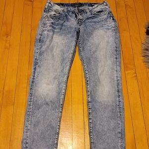 Silver Boyfriend cut whitewash jeans